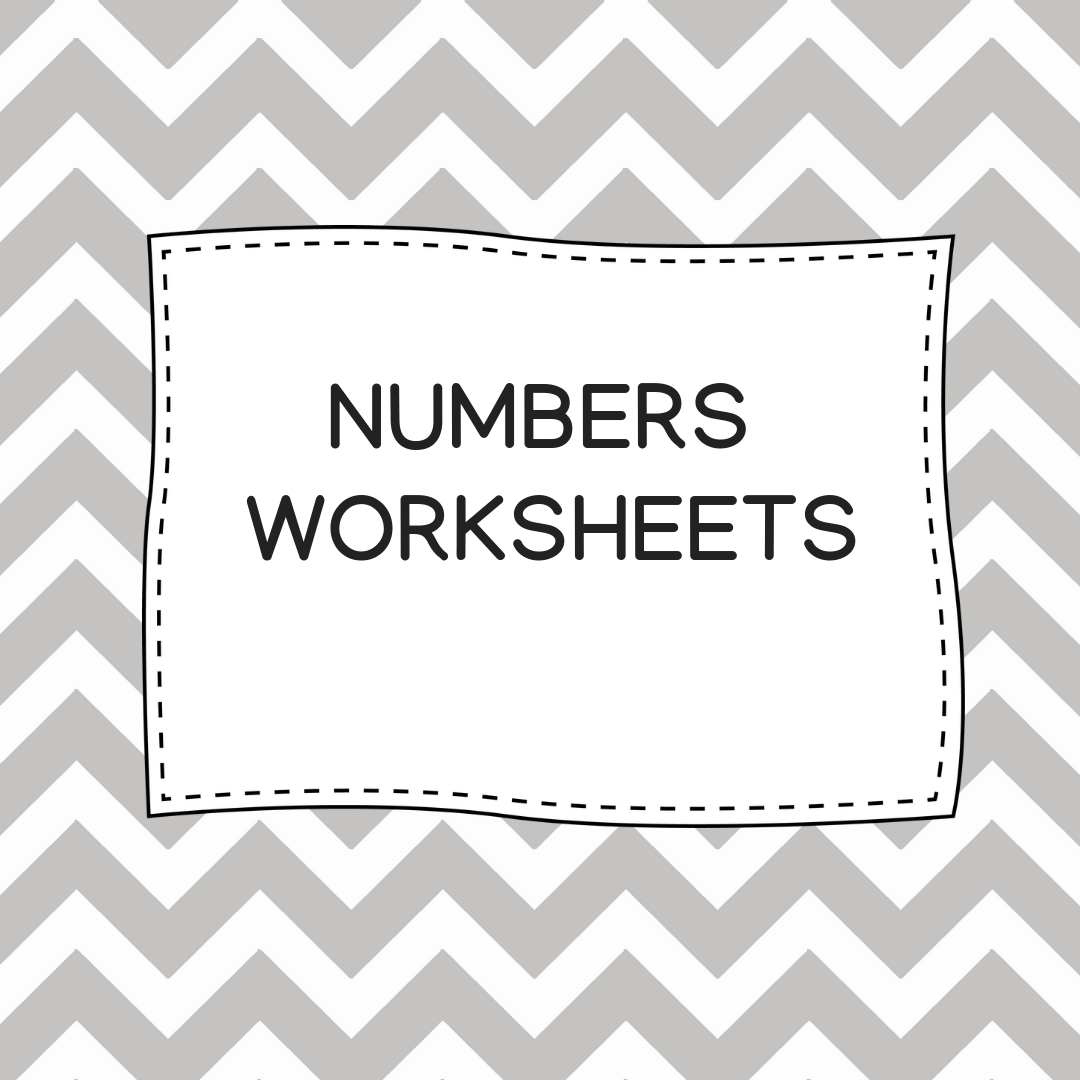 Numbers Worksheets For Preschool Aged Children It