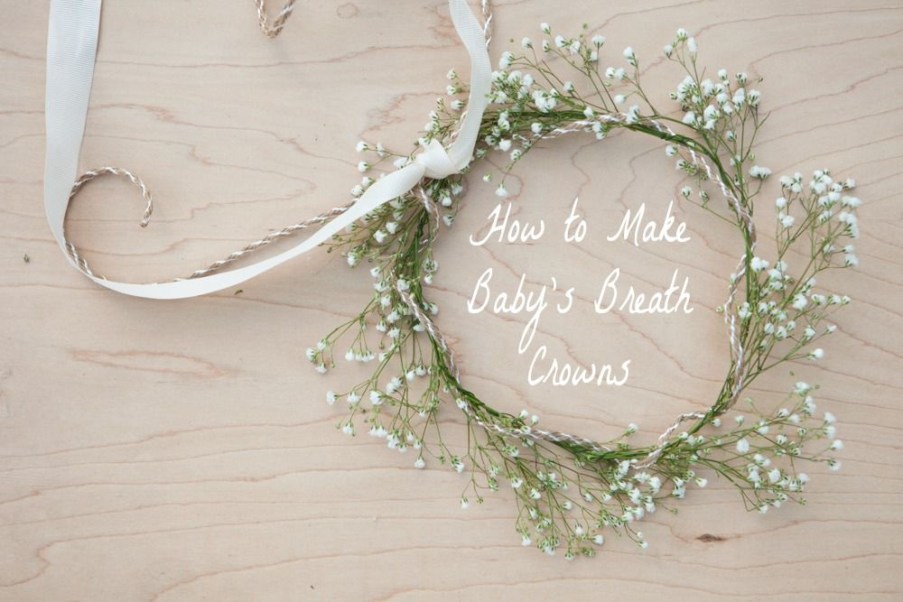 How To Make A Baby S Breath Crown Rustic Wedding Chic Babys Breath Crown Babys Breath Wreath Babys Breath