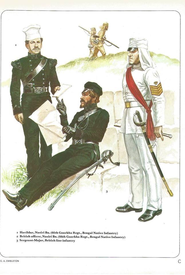 Havildar,Nasiri Bn.,(66th Goorkha Regt.Bengal Native Infantry).2 ...