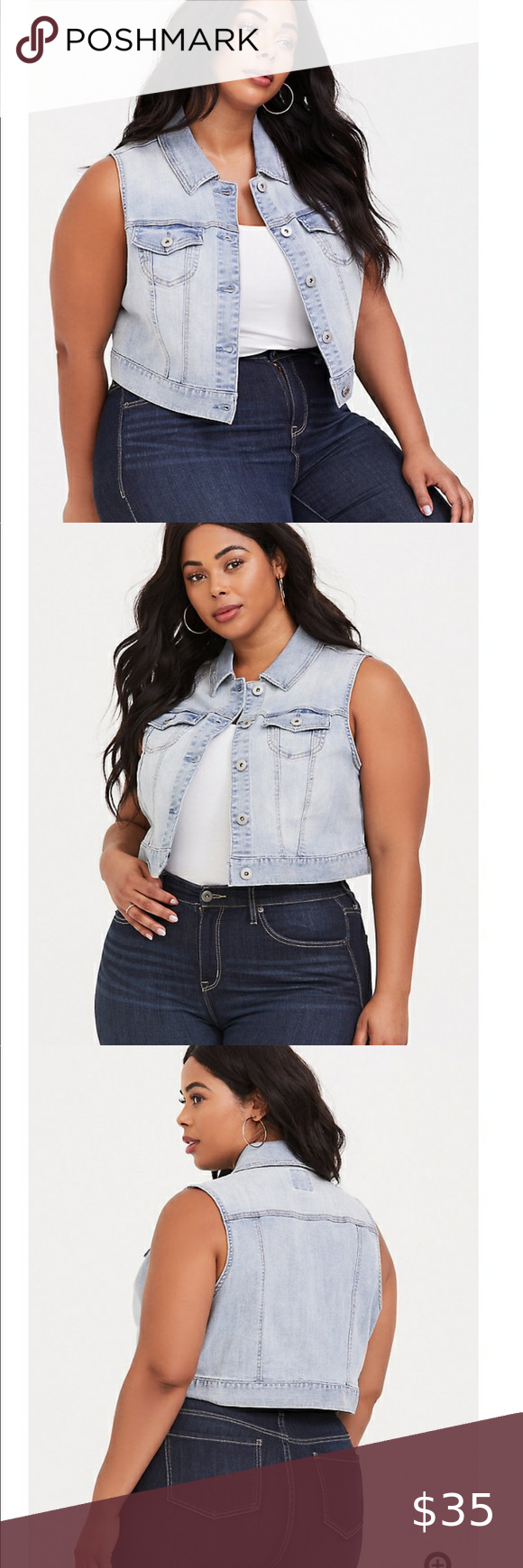 Nwt Torrid Cropped Denim Jacket Versatile And A Yearlong Staple A Cropped Fit And Stretchy Construction Updates In 2020 Cropped Denim Cropped Denim Jacket Denim Vest [ 1740 x 580 Pixel ]
