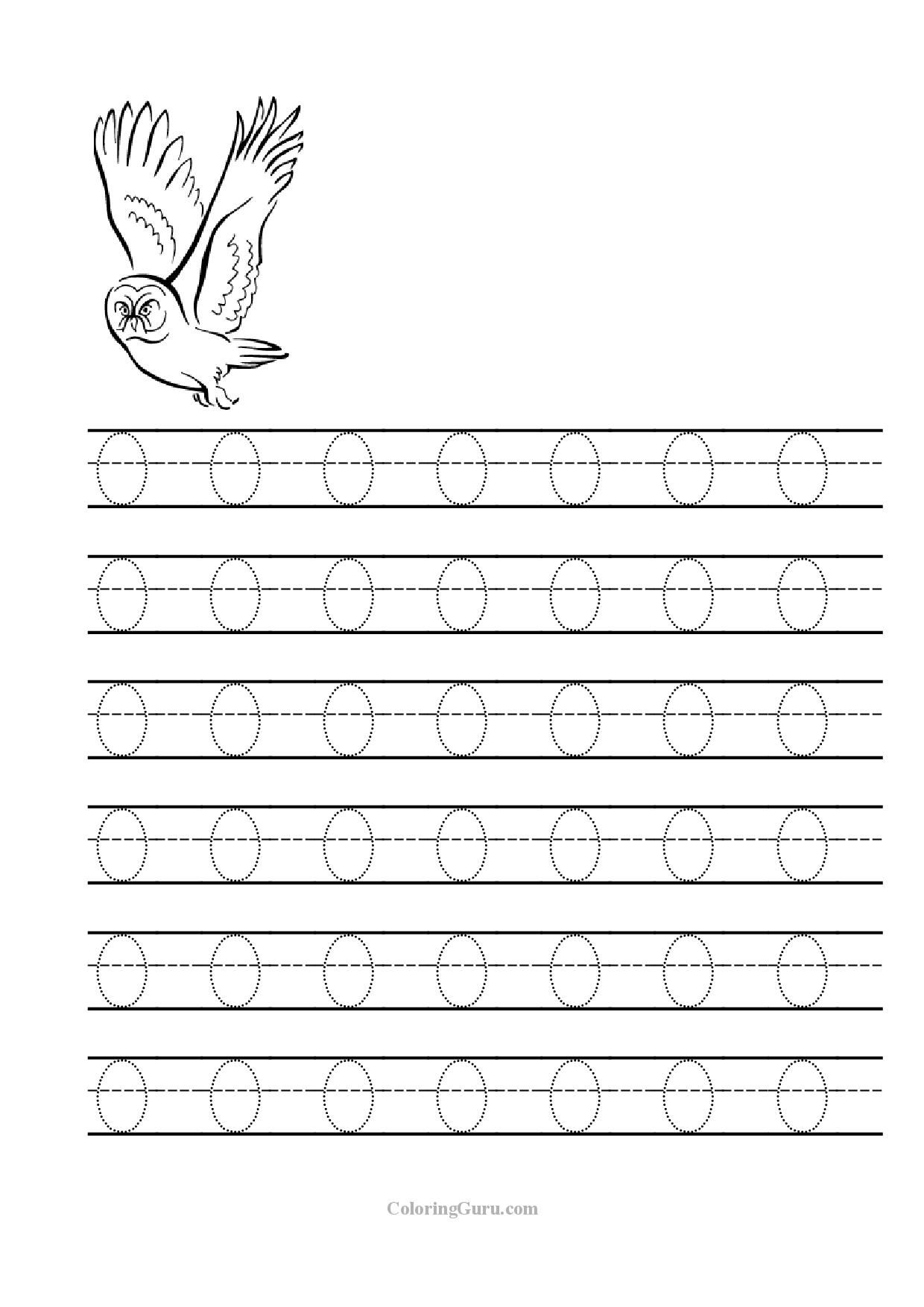 Tracing Letter O Worksheets For Preschool 1 240 1 754