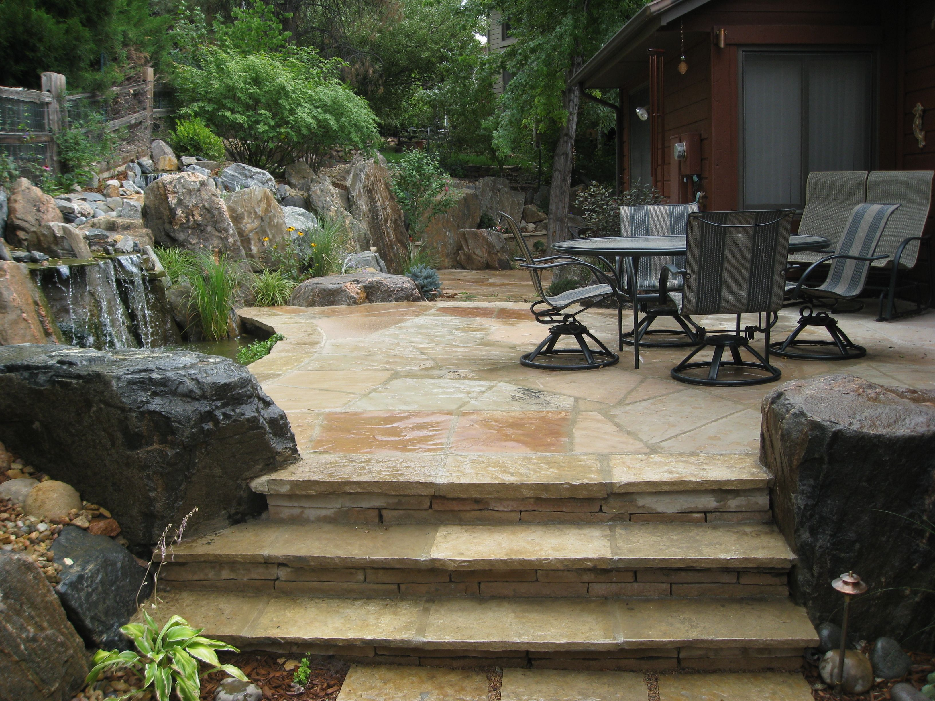 Backyard patio ideas flagstone - Backyard Patio Ideas Flagstone 32