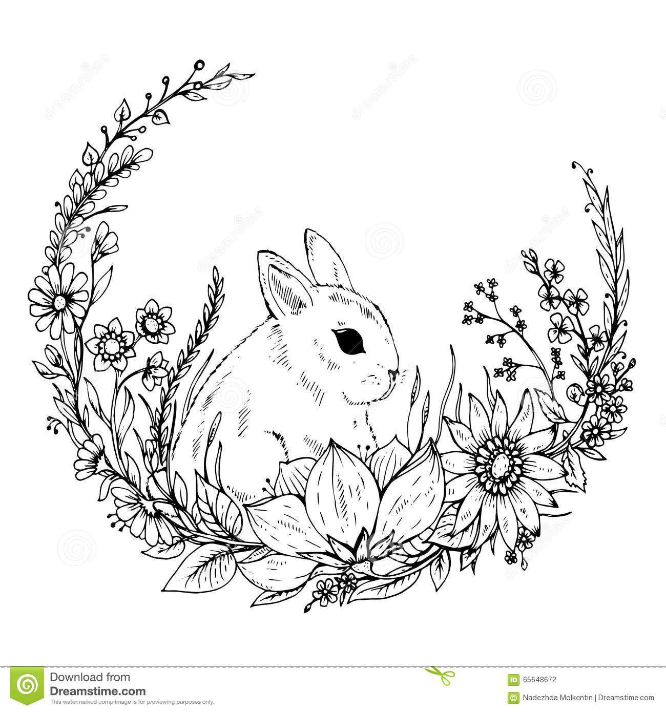White Rabbit Drawing