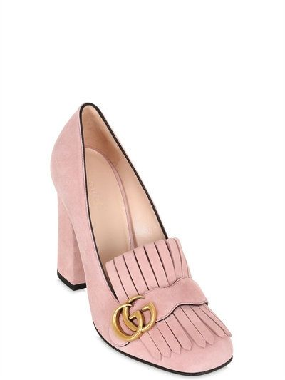 c4479e6e9bf Gucci - 105mm Marmont Fringed Suede Pumps
