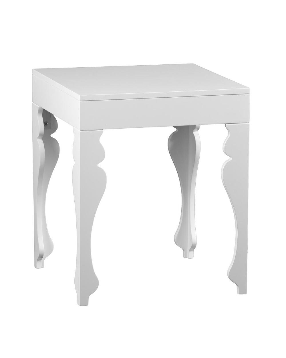 White Square End Table In 2020 End Tables White End Tables
