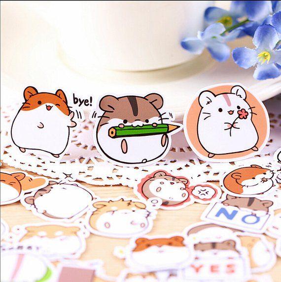 Creative Cute Self made Hamster Stickers / Scrapbooking