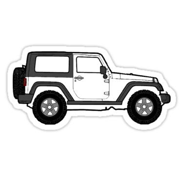 Jeep Wrangler Stickers Redbubble