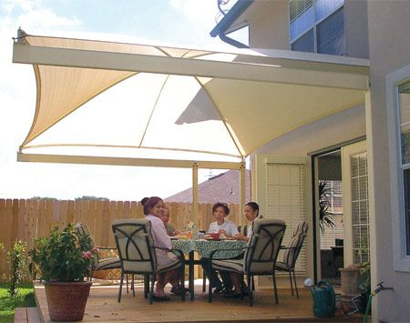 How To Shade Your Deck Or Patio: Sun Blocking Solutions That Let You Enjoy  Your Deck Or Patio All Day Long.  Canopy Awnings Block Sun And Rain  Build  Your ...