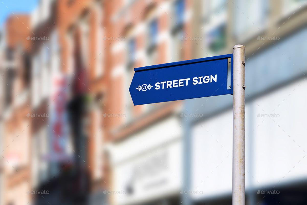Street Sign Mock Up Bundle Sign Street Bundle Mock Street Signs Signs Sign Mockup