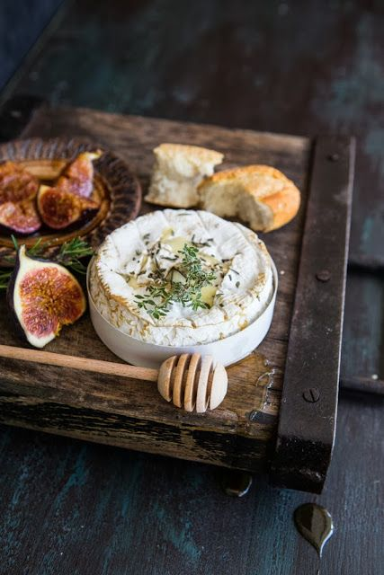 Oven Baked Camembert with Honey Roasted Figs