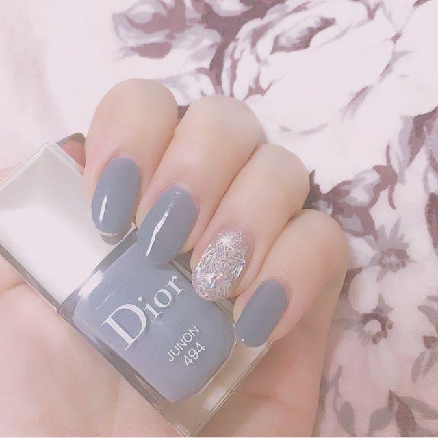 best cheap 90375 32888 nails #nail #selfnail #selfnails #gray #graynails #dior ...