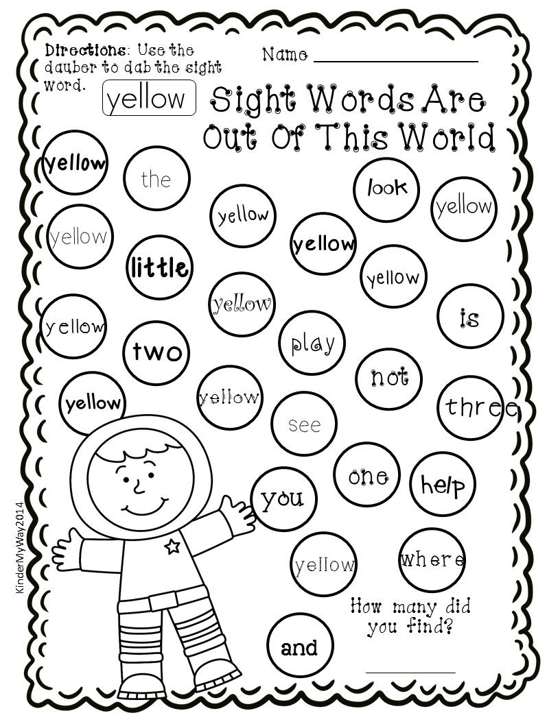 Sight Word Dauber Printables Pre Primer Edition 40 Pages Of Fun Engaging Sight Wor Social Studies Worksheets Sight Word Worksheets Making Words Kindergarten