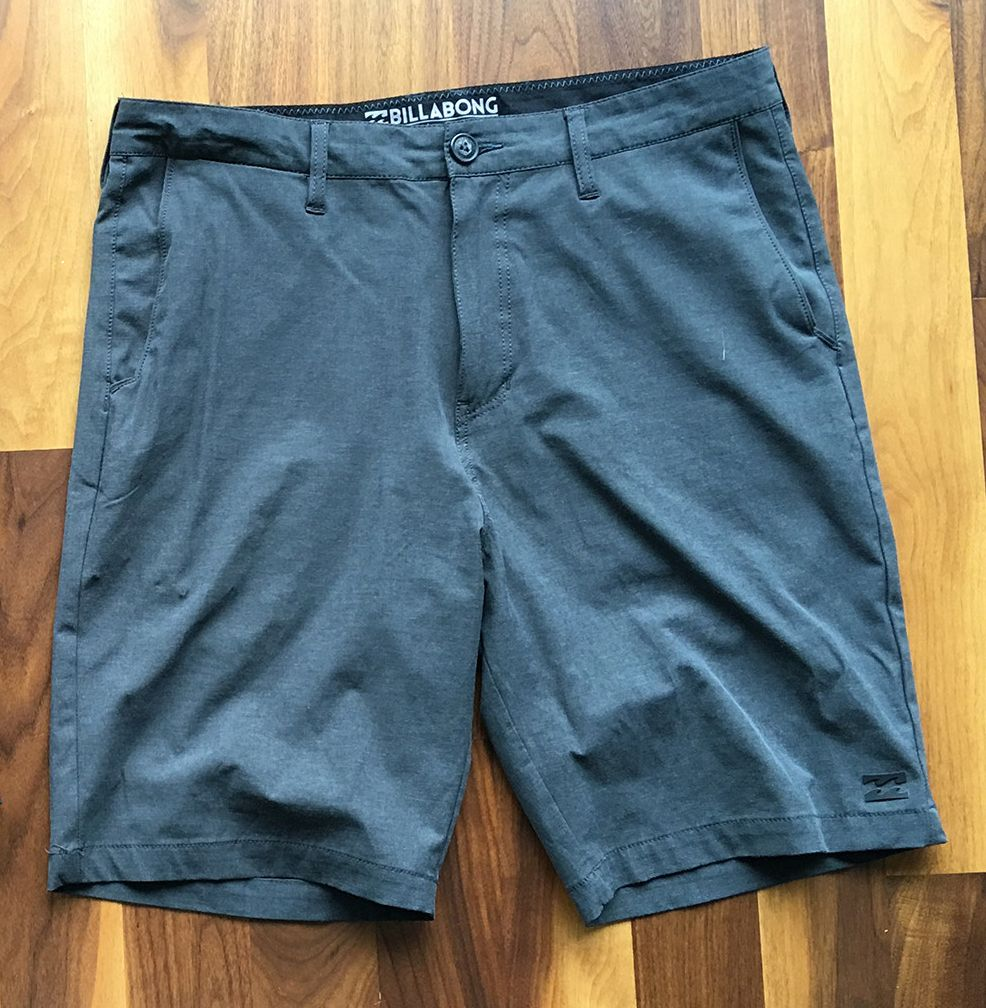 """Billabong Crossfire X Submersible Short: A shorts / swim trunks combo. It's a little harder to pass them off as """"shorts"""" due to the swim-suit looking aesthetic and the """"swishier"""" material that trunks usually have. Still great nonetheless."""