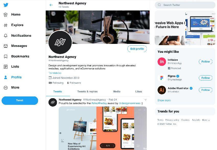 Twitter Start Page Mockup Figma Freebie Freebiesui Figma Mockup Business Promotion