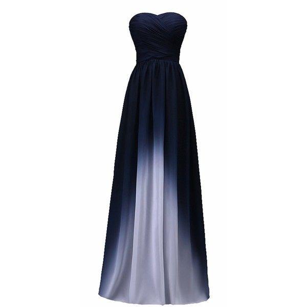 L\'ivresse Women\'s Chiffon Sweetheart Floor Length Evening Dress ...