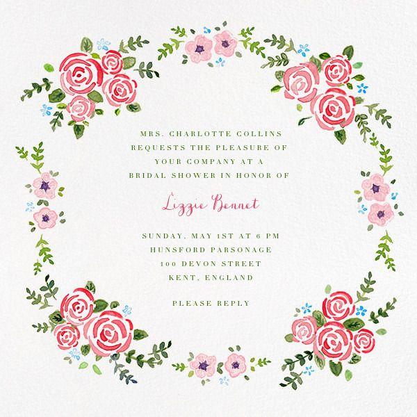 Rose Garland - Online At Paperless Post
