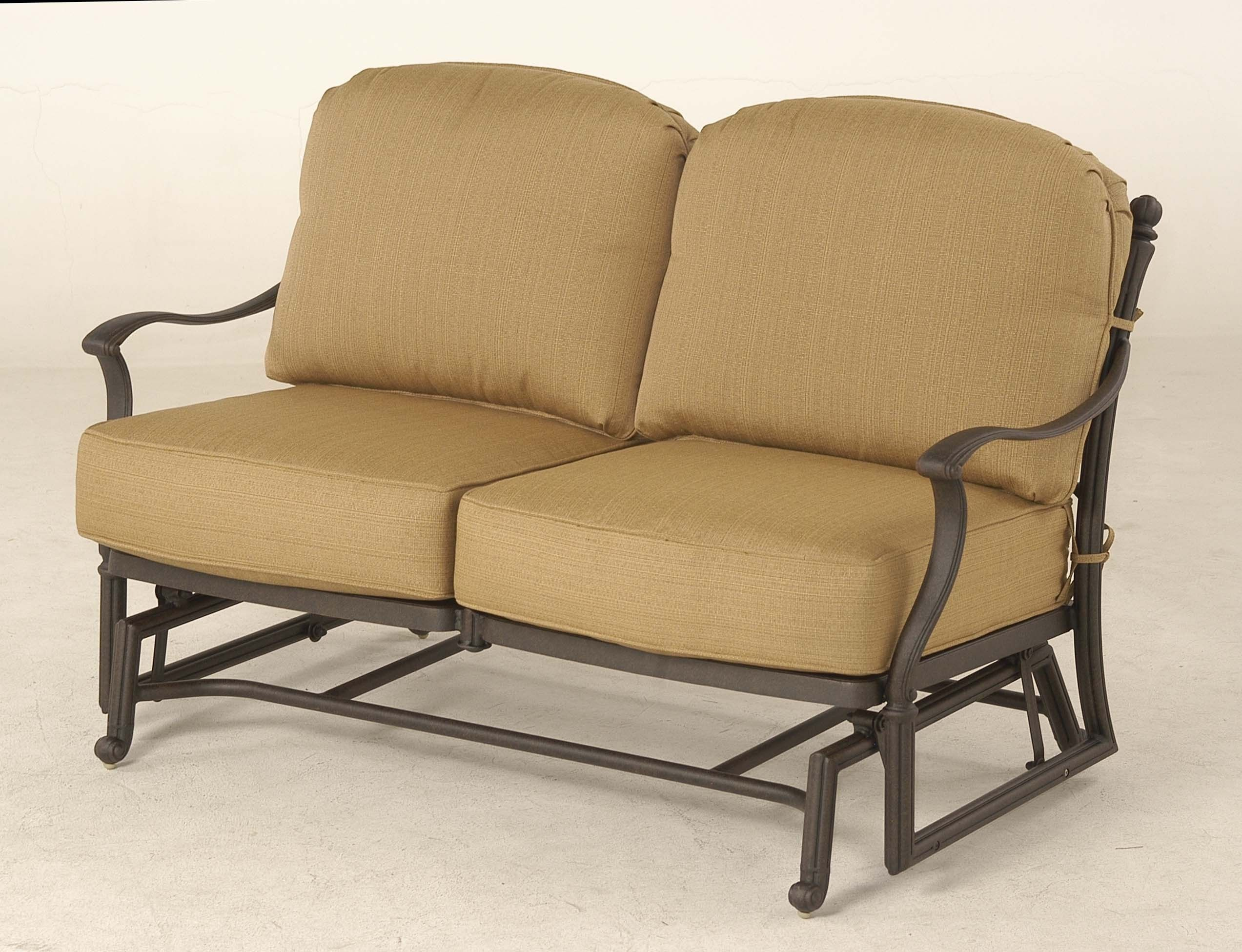 Great Turin Collection Patio Loveseat Glider By Hanamint