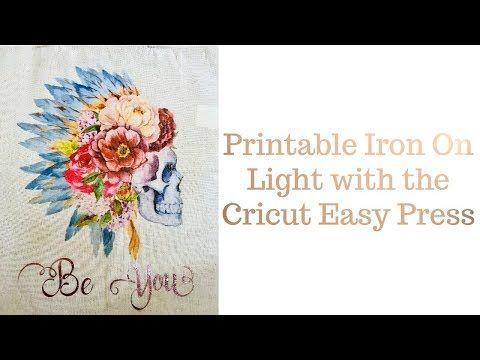 Printable Iron On Light Cricut Easy Press Youtube Cricut