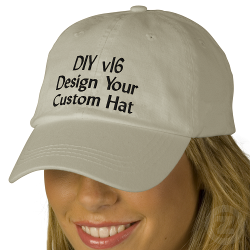 4da07ef45d5 DIY Design Your Own Custom Baseball Hat V16A Baseball Cap Create your own  hat you can personalize for any special occasion. Add a name!