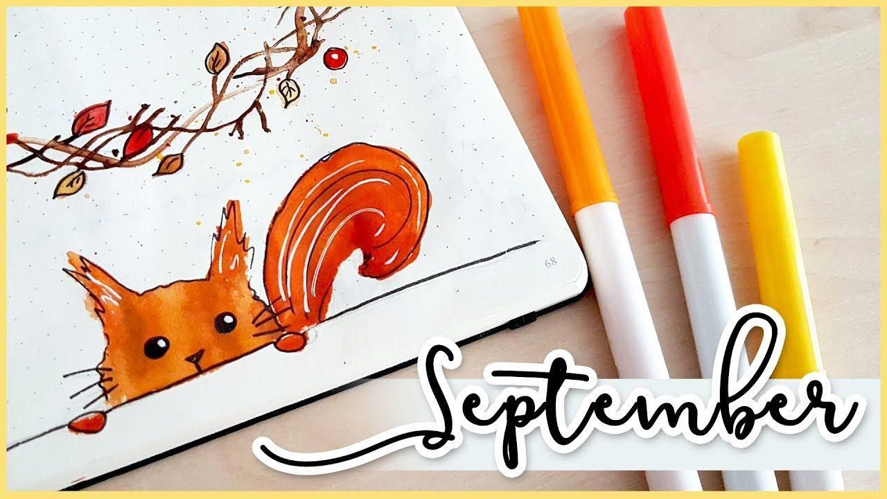 Plan With Me! September Bullet Journal Setup 2017 #bulletjournalsetup #septemberbulletjournalcover