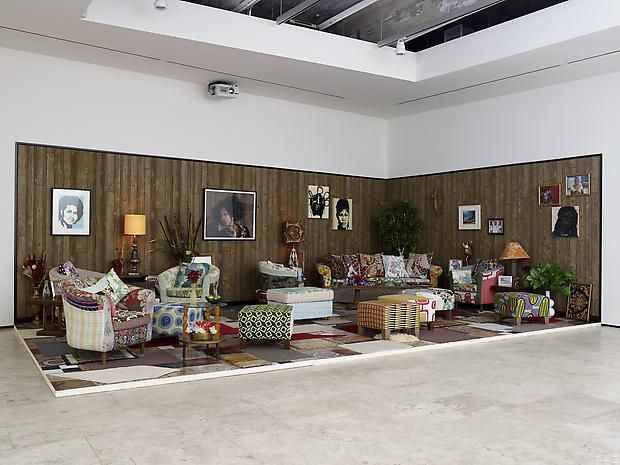 MICKALENE THOMAS How To Organize A Room Around Striking Piece Of Art Installation View