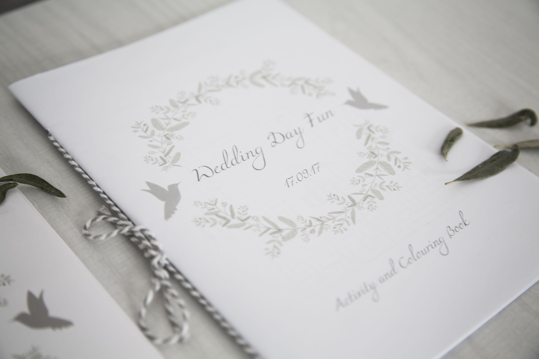 Wedding stationery, greek wedding, kids activity book, logo, wedding ...