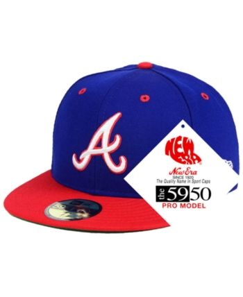 309271d607af5 New Era Atlanta Braves Retro Stock 59FIFTY Fitted Cap - Blue 8