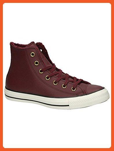Converse Chuck Taylor All Star Winter Knit/Fur High Top Women's Shoes Deep  Bordeaux/