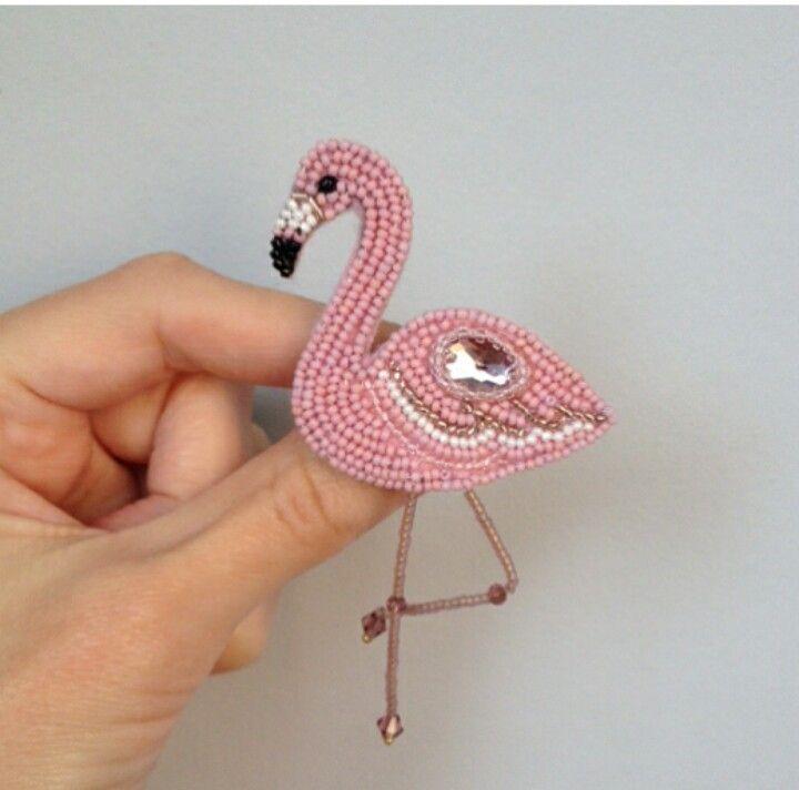 Схема фламинго из бисера 207