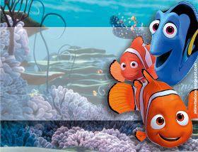 Plantilla Para Invitación De Buscando A Nemo Buscando A