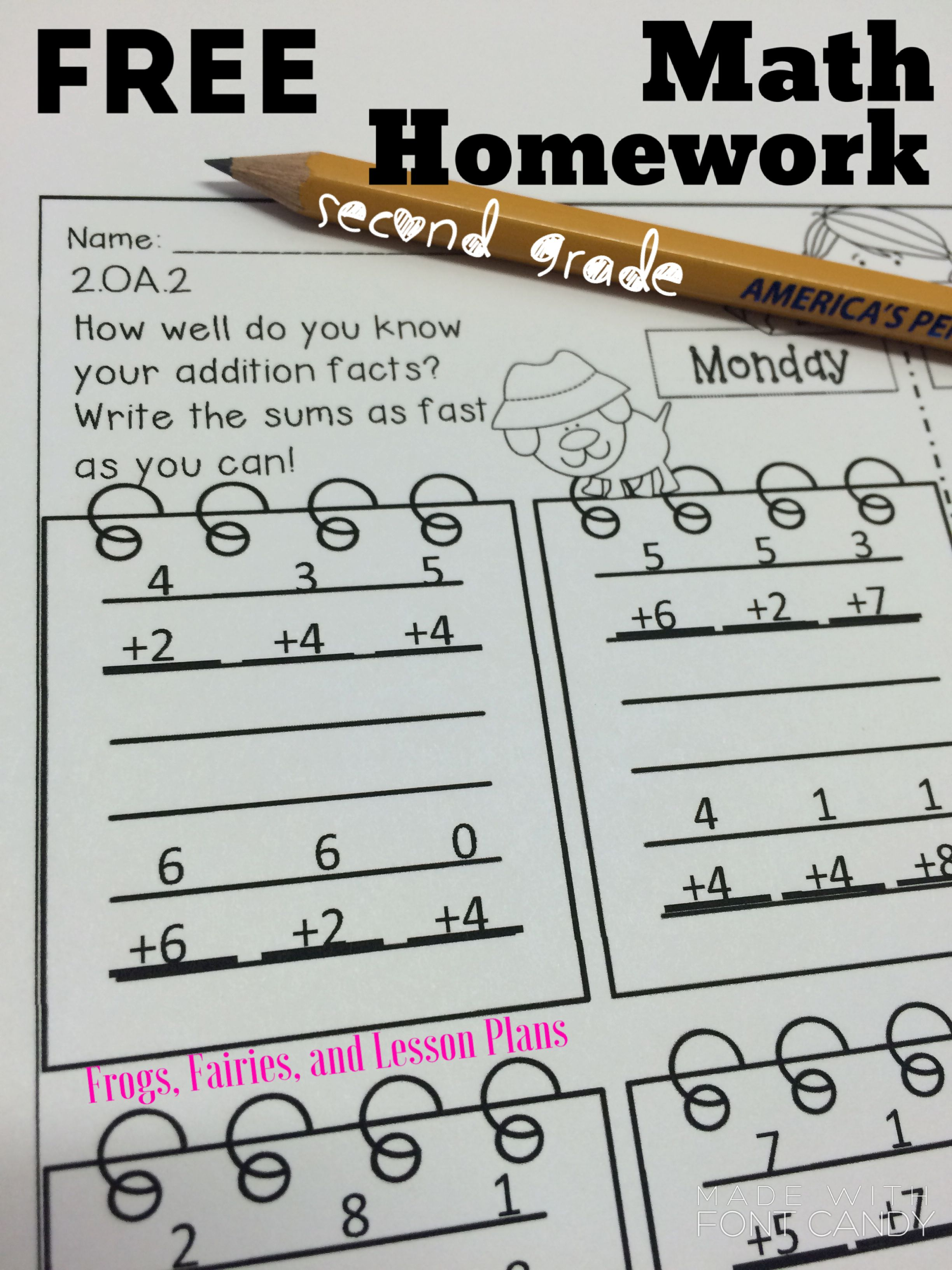 Math Homework For 2nd Grade