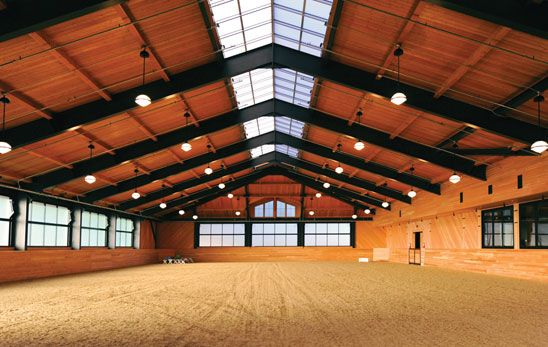 Plenty Of Natural Light In This Equestrian Arena Slc Interiors