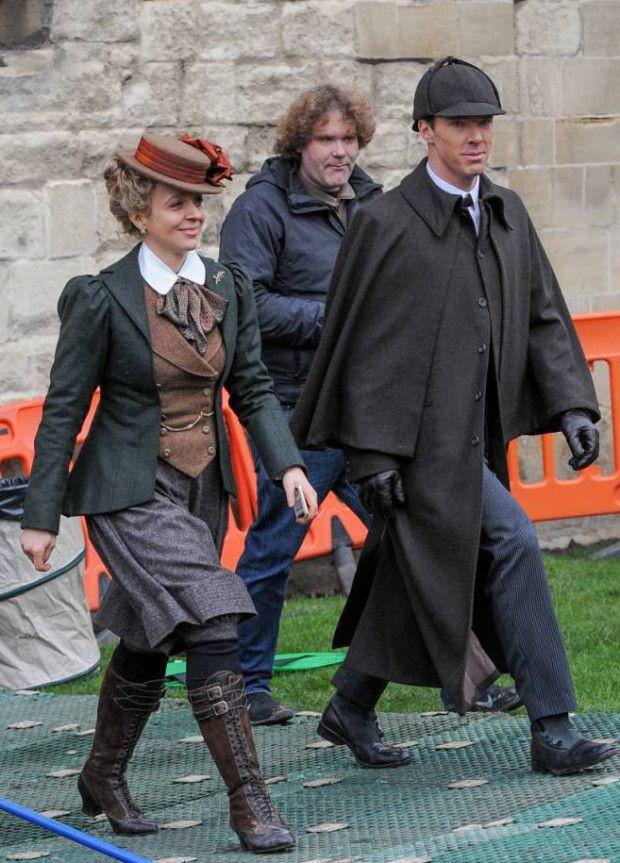 Tweed Ride outfit inspiration - Amanda Abbington as Mary Morstan in BBC Sherlock's 2016 Christmas Special, The Abominable Bride #tweedride #bbcsherlock #shspesh