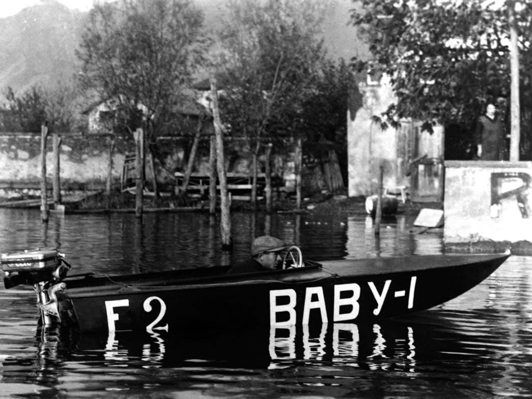 The Baby craft, racing boat with outboard engine, in 1926. #Riva #Rivayacht #MadeinItaly #Luxury