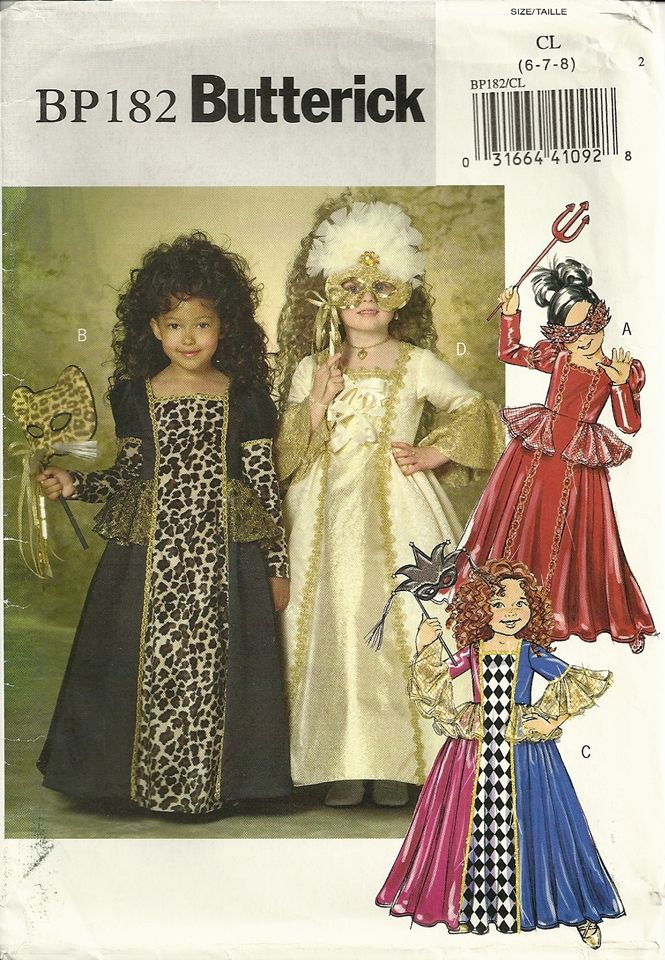 image result for butterick girls costume patterns - Childrens Halloween Costume Patterns
