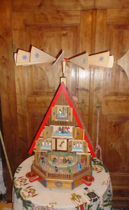 Pyramide Adventshaus Richard Glasser Ddr Zeit Top Erzgebirge Ca 80 Cm