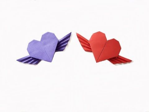 How To Make A Paper Heart With Wings For Beginner Youtube