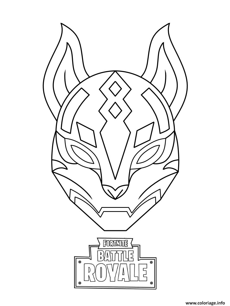 Coloriage Fortnite Drift.Coloriage Drift Ultimate Mask Fortnite A Imprimer En 2019
