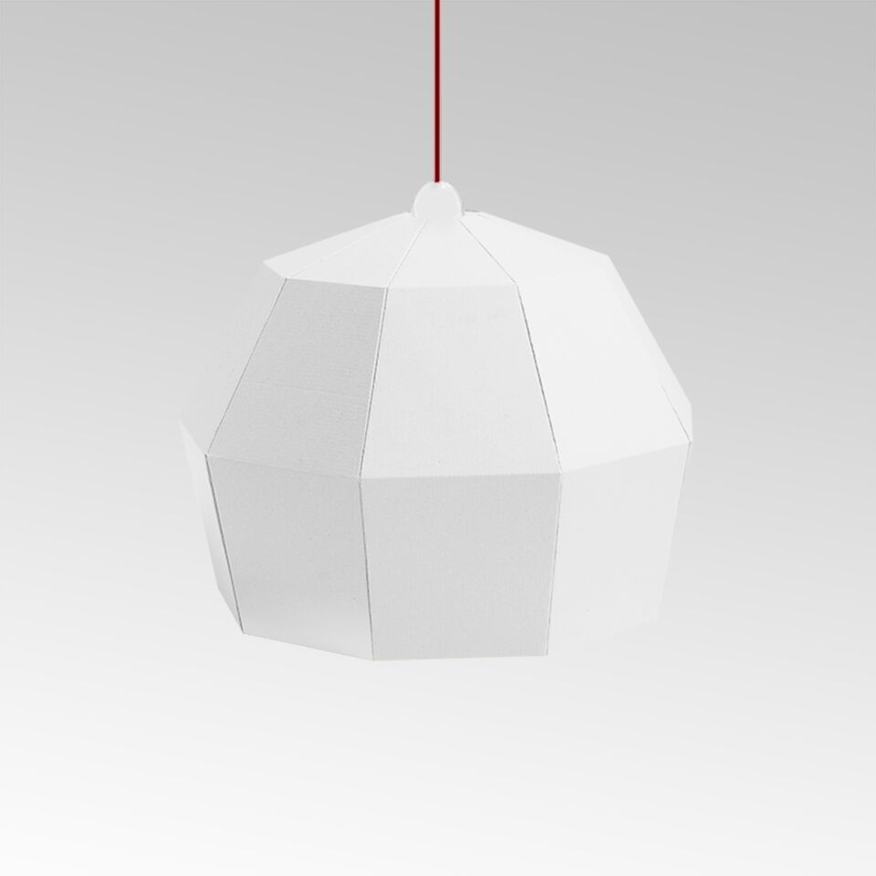 White cardboard Lamp. From UNO collection.