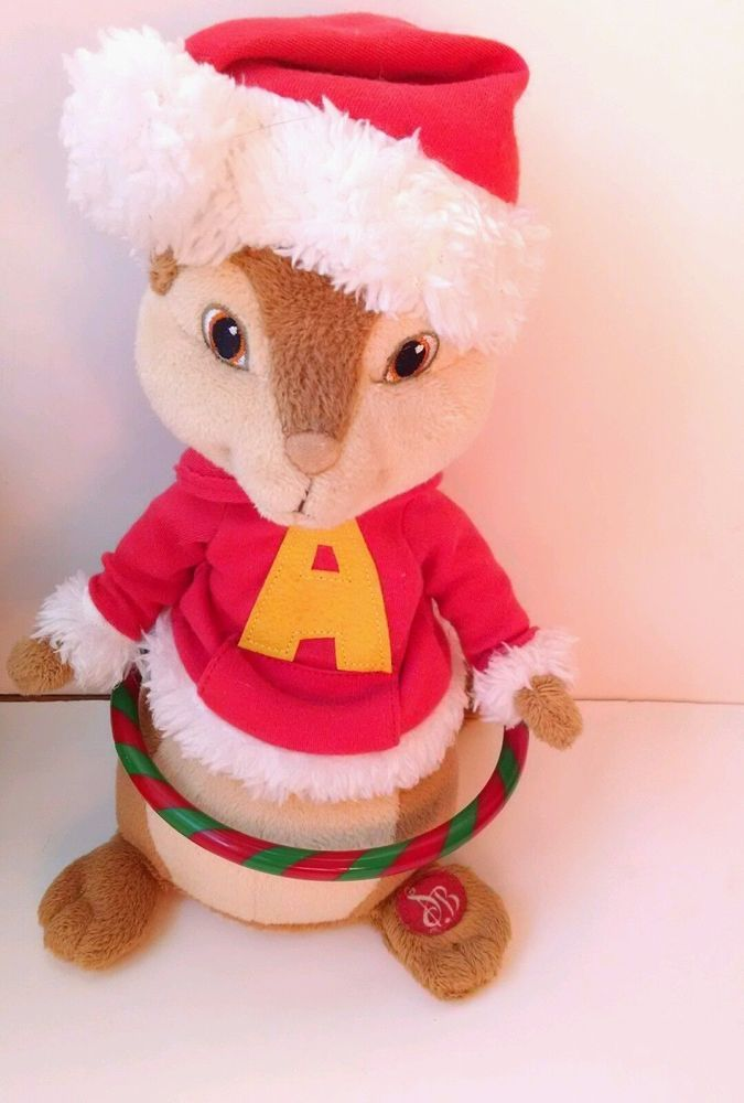 alvin and the chipmunks animated musical hula hoop plush christmas song santa fox - Alvin And The Chipmunks Christmas Songs