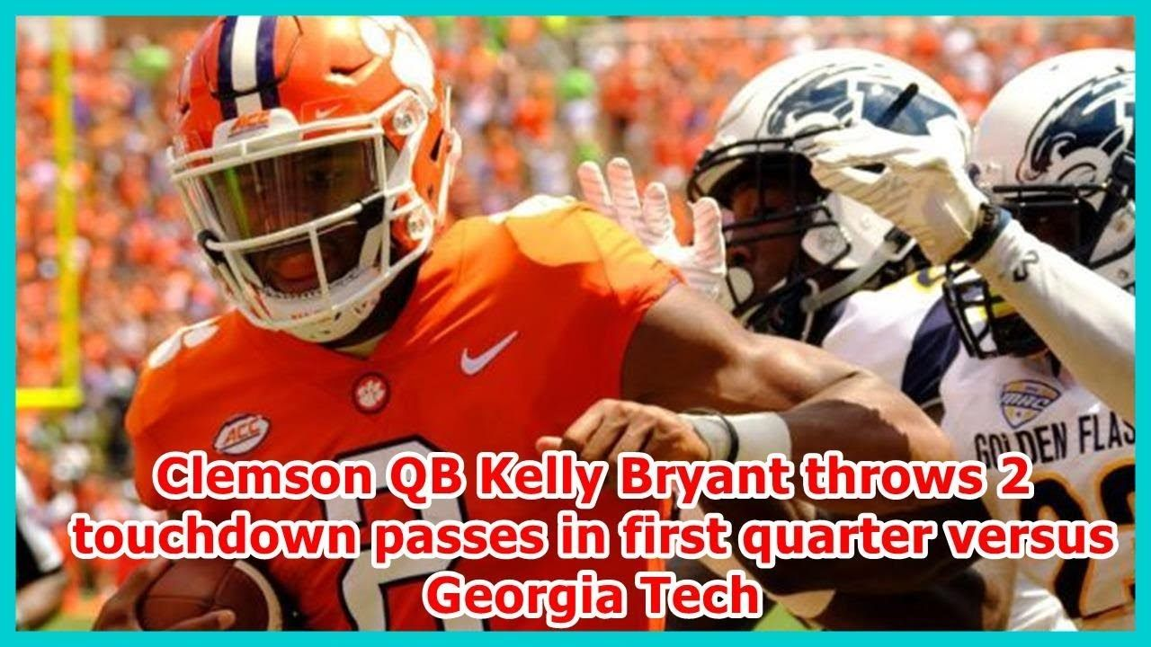 Clemson QB Kelly Bryant throws 2 touchdown passes in first