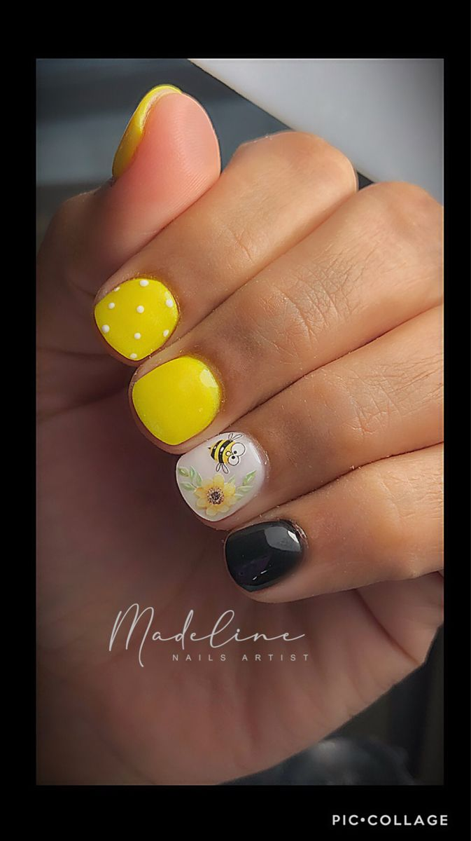 Pin By Grecia Gonzales On Madeline Nails In 2020 Yellow Nails Design Yellow Nails Pink Nails