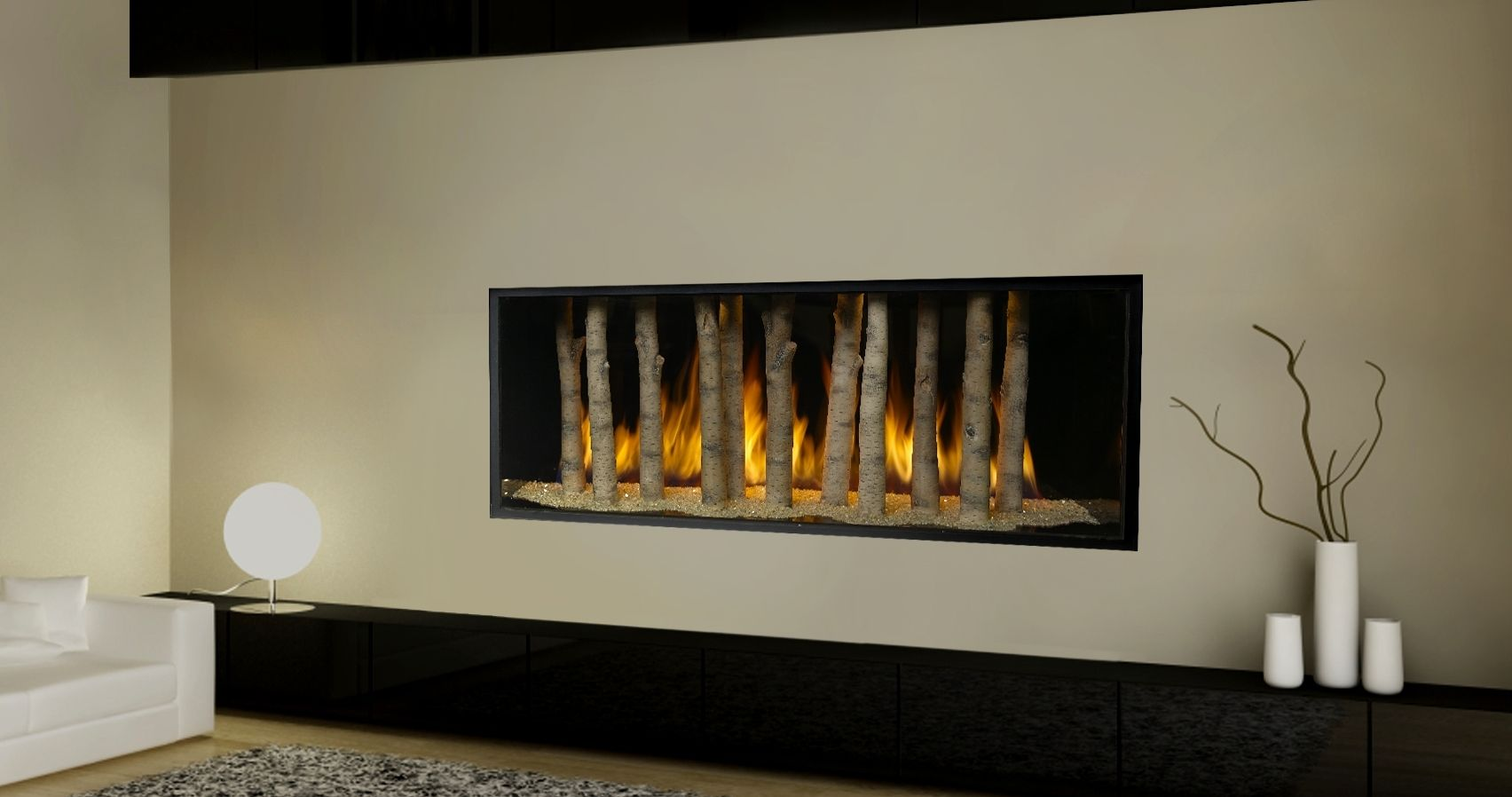 Unique gas fireplace design ideas with creative fireplace Hide fireplace ideas