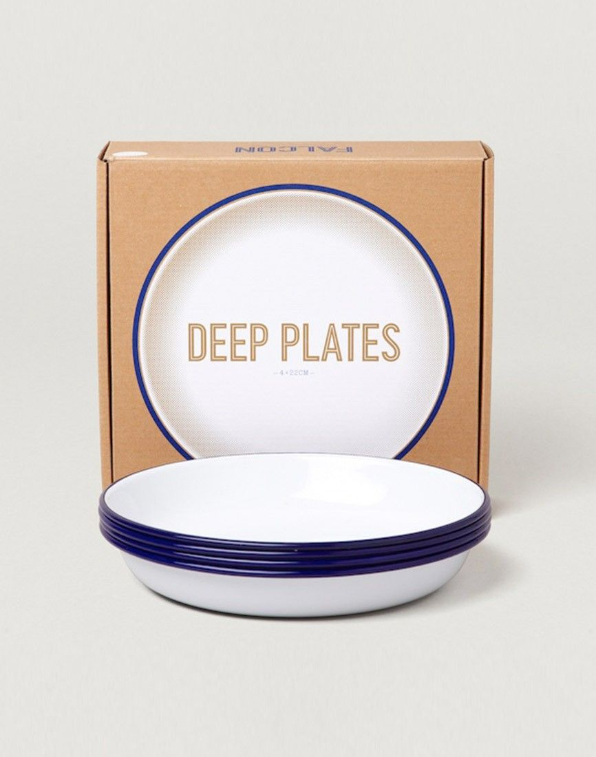 Falcon Enamelware Deep Plate x4 Set White | House stuff | Pinterest ...
