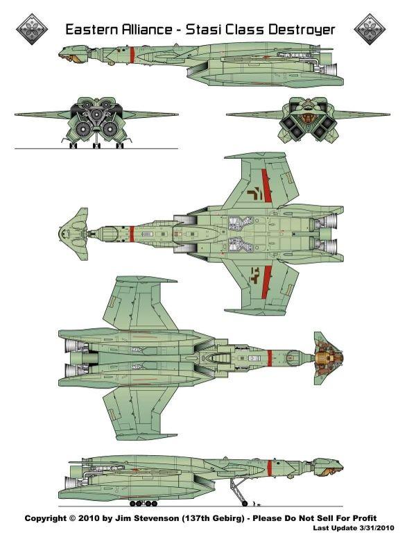 Eastern Alliance destroyer from Battlestar Galactica 78