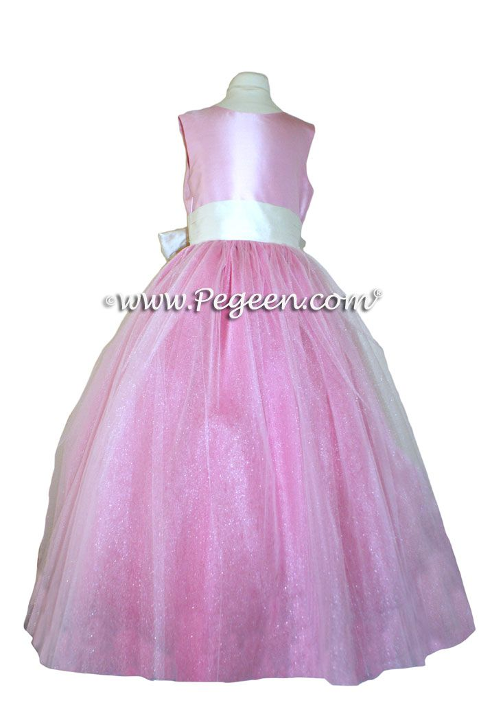 FLOWER GIRL DRESSES with layers of tulle