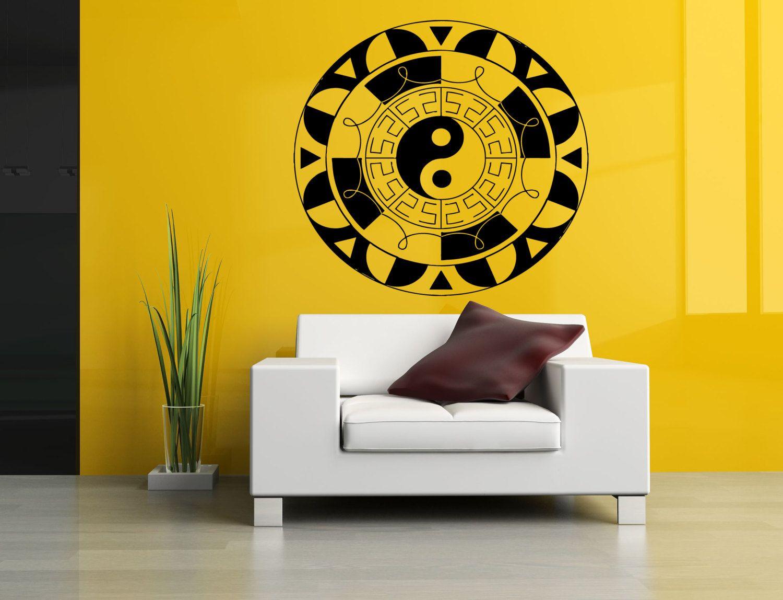 Wall Vinyl Sticker Decals Mural Room Design Pattern Yoga Hindu ...