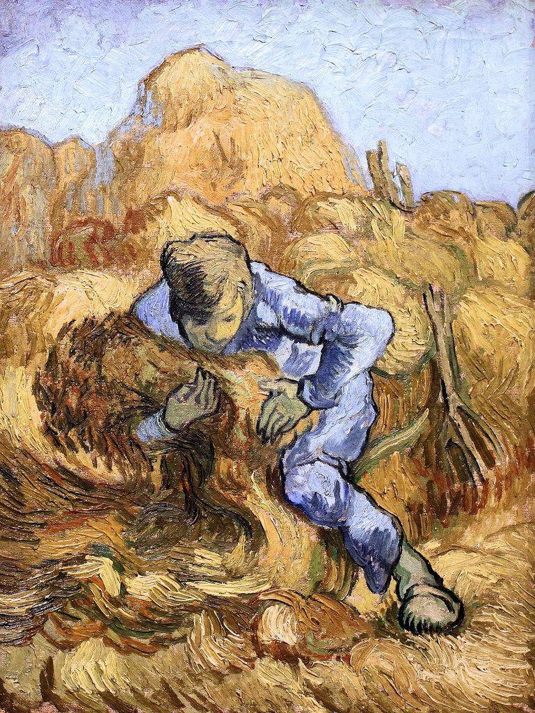 Vincent Van Gogh Masterpiece of Art - The Shepherdess (after Millet ...