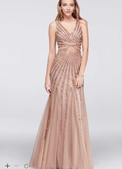 0b78e90d2f5 Rose Gold Davids Bridal Dress