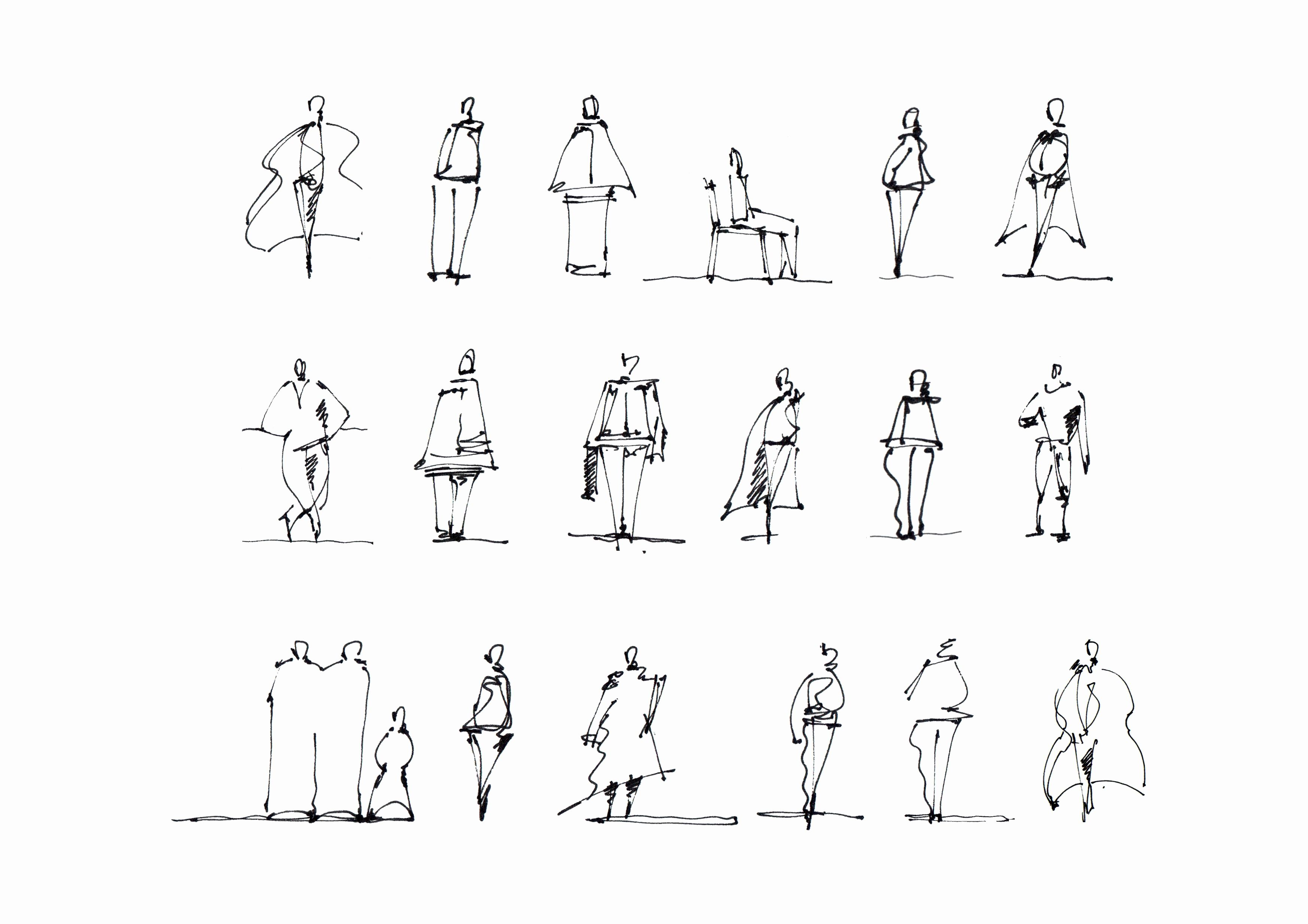 Architectural Sketch People Best Of Lineweight